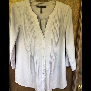 BCBG Maxazria gray blouse
